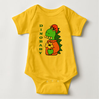 Body Para Bebê Bodysuit vermelho bonito do dinossauro do bebê do