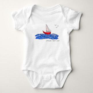 Body Para Bebê Bodysuit vivo do bebê das gaivotas do barco de mar