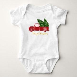 Body Para Bebê Bodysuits do bebê do caminhão da árvore de Natal