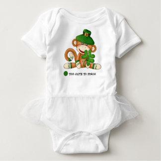 Body Para Bebê Bodysuits do tutu do bebê do dia de St Patrick do
