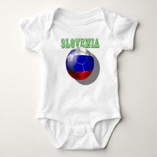 Body Para Bebê Bola de futebol futbal de Slovenija Slovenia