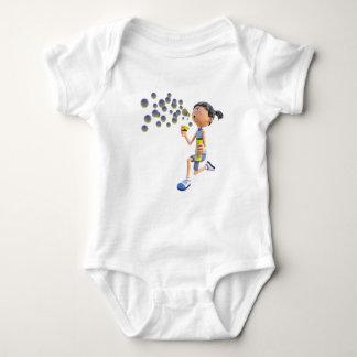 Body Para Bebê Bolhas de sopro da menina dos desenhos animados