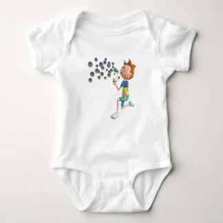 Body Para Bebê Bolhas de sopro do menino dos desenhos animados