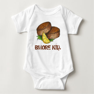 Body Para Bebê Bolo de caranguejo Crabcake de Baltimore Maryland