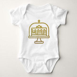 Body Para Bebê Bolo do brilho do ouro