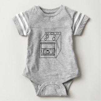 Body Para Bebê bolo no forno, bebê engraçado na mamã grávida da
