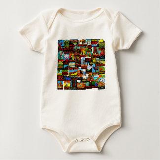 Body Para Bebê Bomba americana do decalque do vintage dos parques