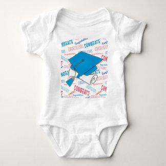 Body Para Bebê Boné de formatura e diploma azuis de Dodger