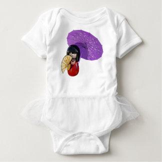 Body Para Bebê Boneca de Sakura com guarda-chuva