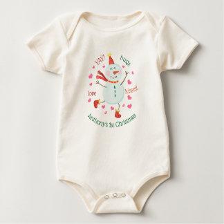 Body Para Bebê Boneco de neve animador do ø Natal do bebê