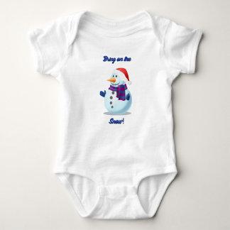Body Para Bebê Boneco de neve bonito do feriado do Natal do