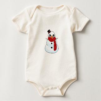 Body Para Bebê Boneco de neve de Kawaii