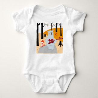 Body Para Bebê Bonito cante um lobo da raposa da canção do verão