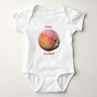 Body Para Bebê Bonito como um pêssego