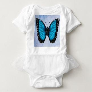 Body Para Bebê Borboleta azul de Morpho