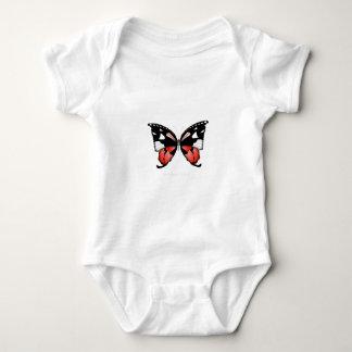 Body Para Bebê borboleta do vermelho do figo 4 por fernandes tony
