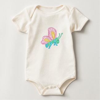 Body Para Bebê Borboleta multicolor bebé