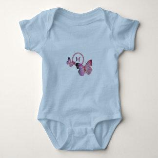 Body Para Bebê Borboleta pequena colorida