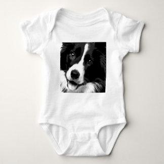 Body Para Bebê Border collie preto e branco