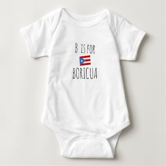 Body Para Bebê Boricua: Bandeira de Puerto Rico