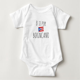 Body Para Bebê Borincano: Bandeira porto-riquenha