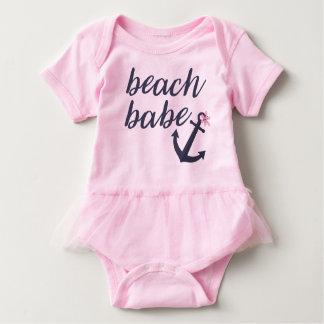Body Para Bebê Borracho cor-de-rosa da praia - equipamento do