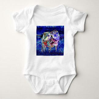 Body Para Bebê Bovídeos no azul