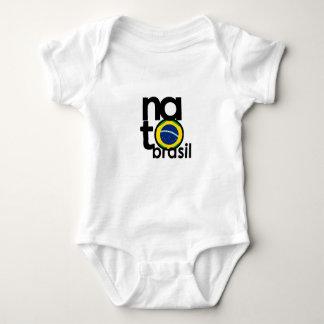 Body Para Bebê Branco do bebê da OTAN Brasil (Brasil NASCIDO) uma
