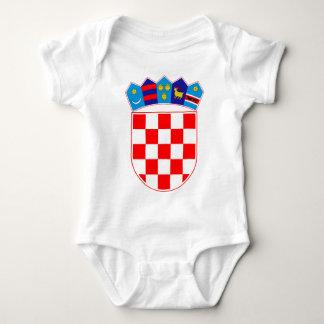 Body Para Bebê Brasão de Croatia, emblema croata, Hrvatska