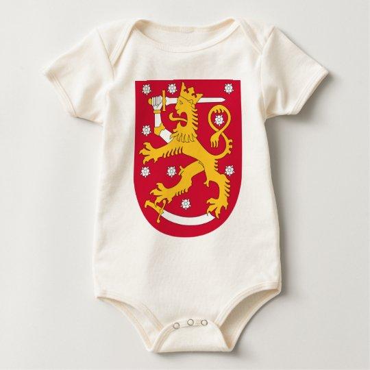 Body Para Bebê Brasão de Finlandia - Suomen Vaakuna