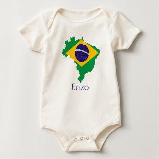 Body Para Bebê Brasil para o bebê Enzo