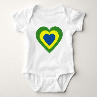 Body Para Bebê brasile-coração