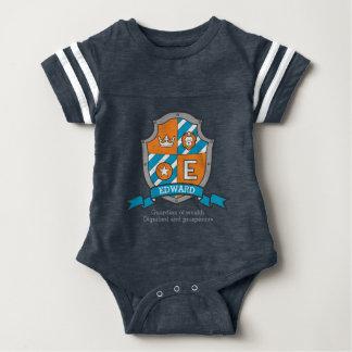 Body Para Bebê Brasões dos meninos do nome & do significado dos