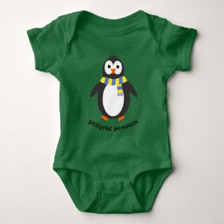 Body Para Bebê Brincalhão bonito do pinguim do inverno