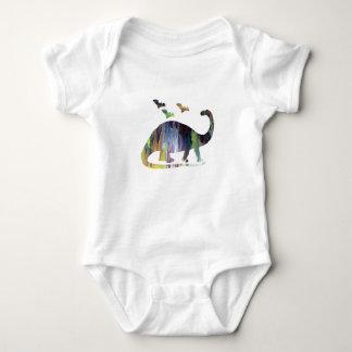 Body Para Bebê Brontosaurus e bastões