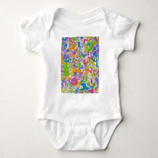 Body Para Bebê Brushstrokes de néon da arte do Grafite-Abstrato