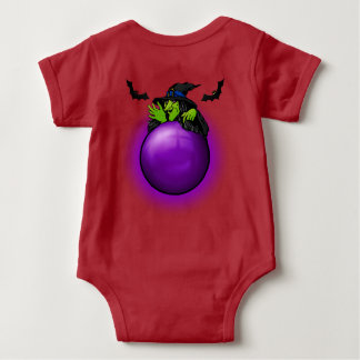Body Para Bebê Bruxa e bastões roxos da bola de cristal