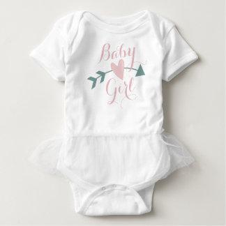 Body Para Bebê Buffled T com coração e seta