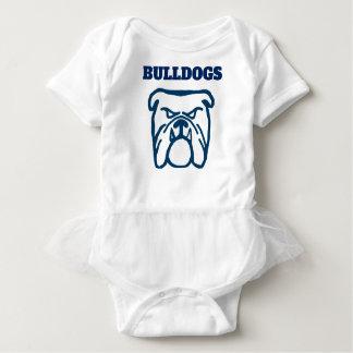 Body Para Bebê Buldogue azul