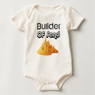 Body Para Bebê Bulider de castelos da areia