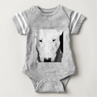 Body Para Bebê Bull terrier preto e branco