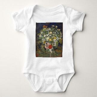 Body Para Bebê Buquê das flores em um vaso