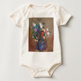 Body Para Bebê Buquê das flores - Odilon Redon