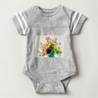 Body Para Bebê Buquê do Wildflower do verão