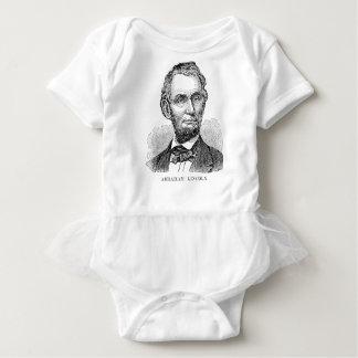 Body Para Bebê Busto de Abe Lincoln do vintage