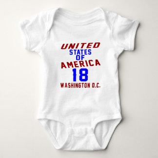 Body Para Bebê C.C. de Washington dos Estados Unidos da América
