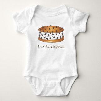 Body Para Bebê C para o sanduíche do sorvete dos pedaços de