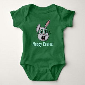 Body Para Bebê Cabeça do coelho de felz pascoa