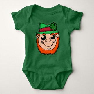 Body Para Bebê Cabeça do Leprechaun dos desenhos animados