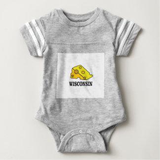 Body Para Bebê Cabeça do queijo de Wisconsin